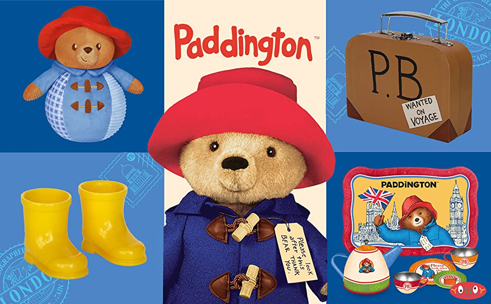 STATION BEAR CLASSIC RED HAT /& LUGGAGE LABEL SET-World Book Day Kids-Film-Animal