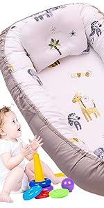 baby nest bed zebra woodland jungle crib bedding