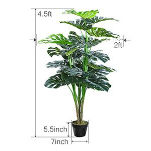 Fake Tropical Split Leaf Plant