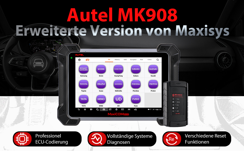 MK908 erweiterte version OBD Diagnosegerät