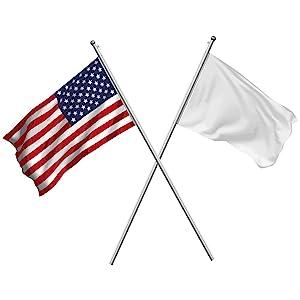 G128 Flag etiquette crossed staff flagpole
