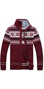 Knitted Zipper Cardigan Sweater