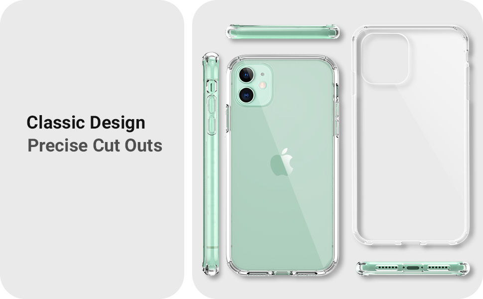 """Amazon.com: IceSword iPhone 11 Clear Case, Extra Protection, Anti-Yellow, Full-Body, Enhanced Shockproof, Anti-Drop Bumper Protective, Slim & HD Clear Cover 6.1"""" - Clear: Electronics"""