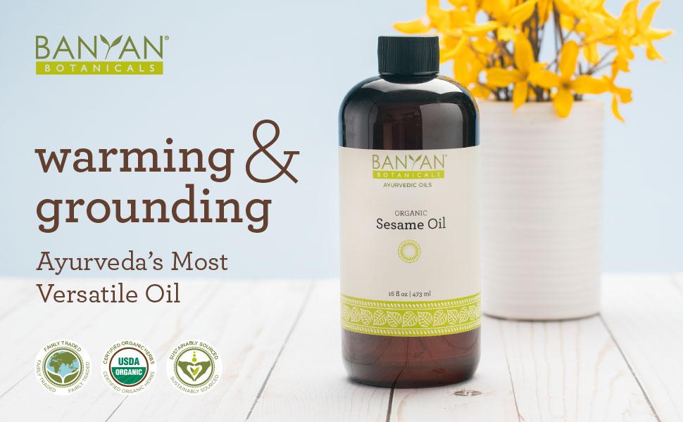 Banyan Botanicals unrefined Sesame Oil