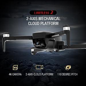 2-axis gimbal drone camera