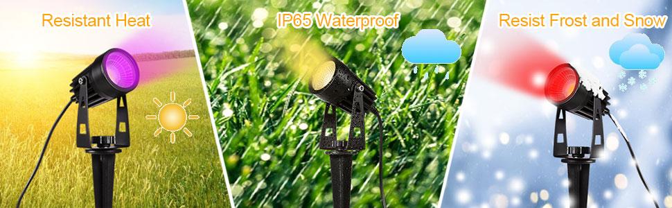 waterproof outdoor spotlights