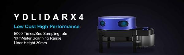 youyeetoo EAI YDLIDAR X4 360 Degree 2D Laser Range Lidar Sensor 10 Meters Scanning Radius for Obstacle Avoidance and Navigation of Robots