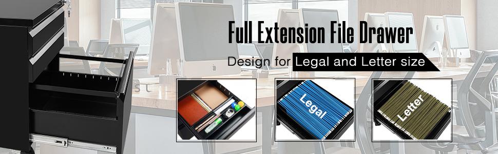 full extension file drawer
