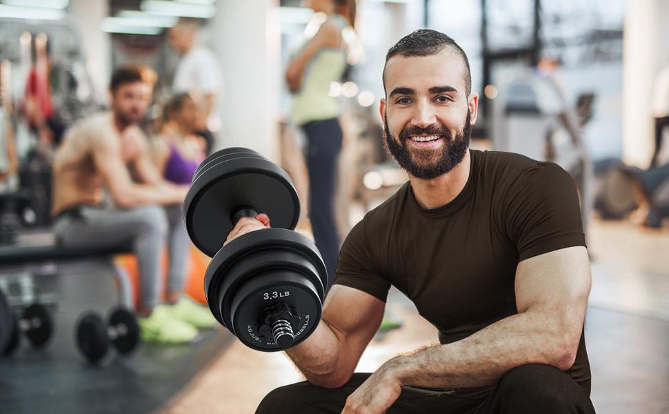 40kg weights dumbbells set adjustable