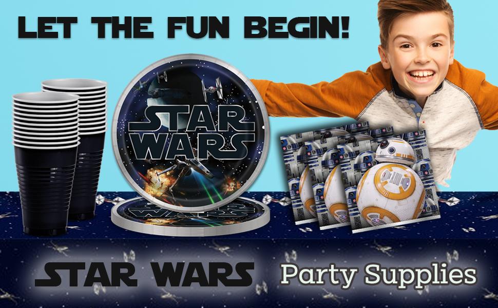 Plastic Door Banner The Party is Here Classic Star Wars