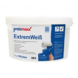 Wandfarbe weiß 10 Liter Deckkraftklasse 1