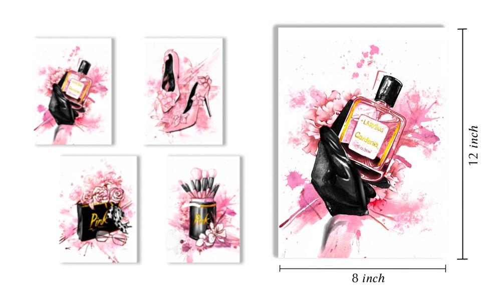 Pink fashion poster