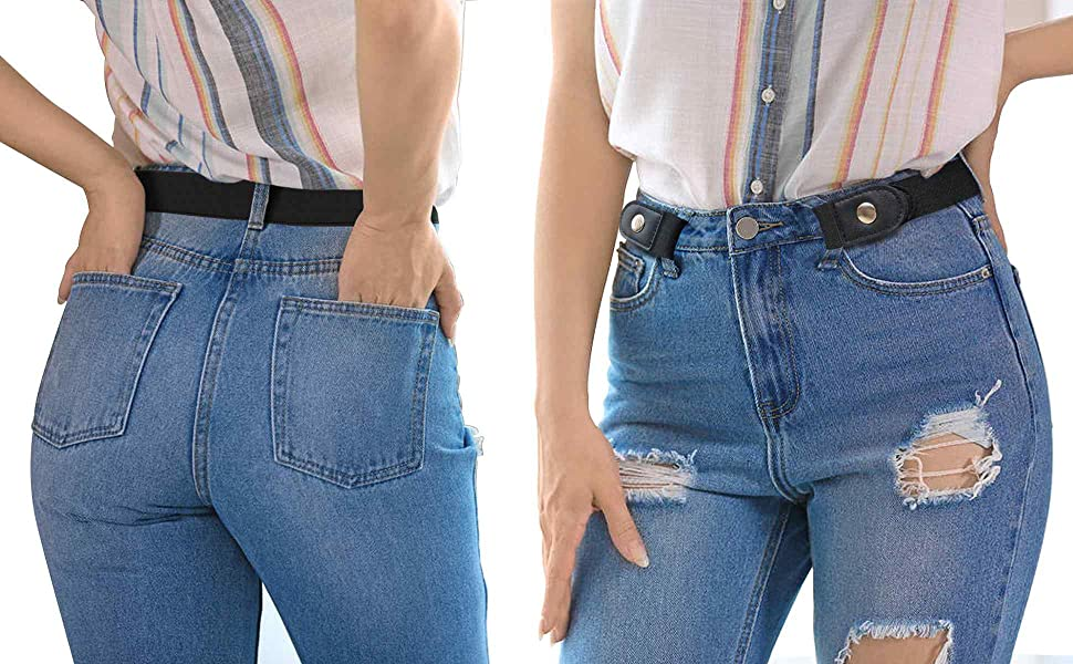 Elastic Waist Belt for Jeans Pants
