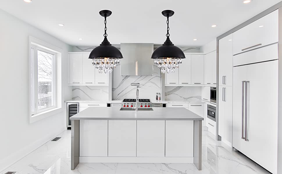 kitchen chandelier with crystals and pendant light ceiling fixture