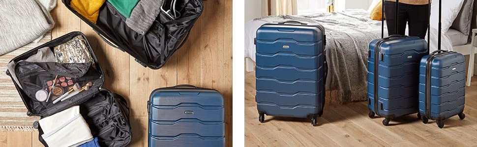 abs hard shell plastic 360 spinner wheels trolley smooth cases plain train automobile lightweight