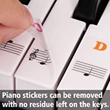Piano Stickers for 88 Keys