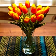 orage tulips table centerpieces coffee tabble dinning table