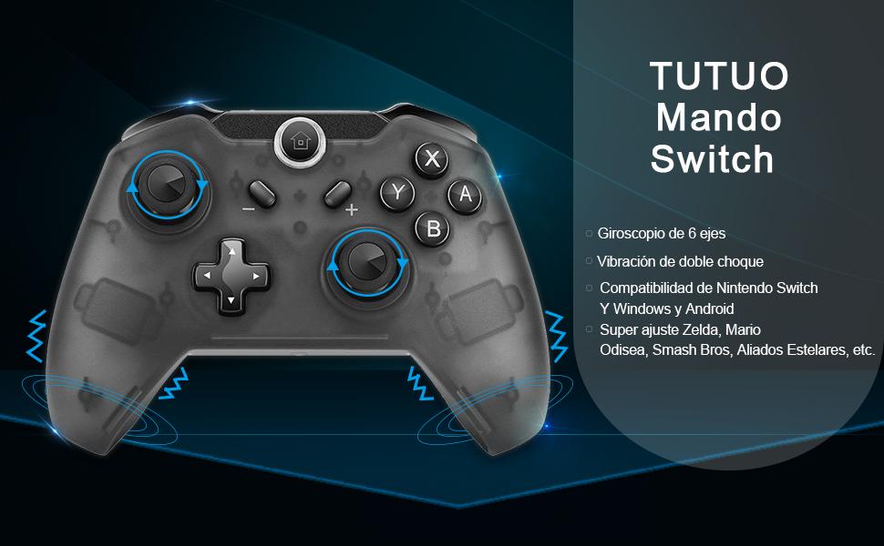TUTUO Mando Controlador Inalámbrico para Nintendo Switch, Switch ...