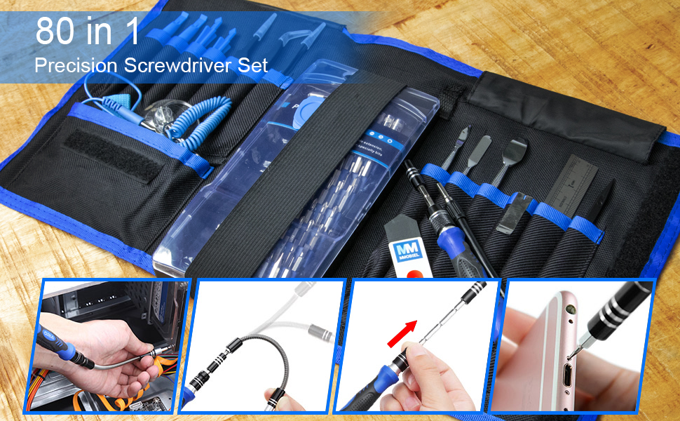 80 in 1 toolkit, precision toolkit, smartphone repair, tablet repair, electronics, high quality