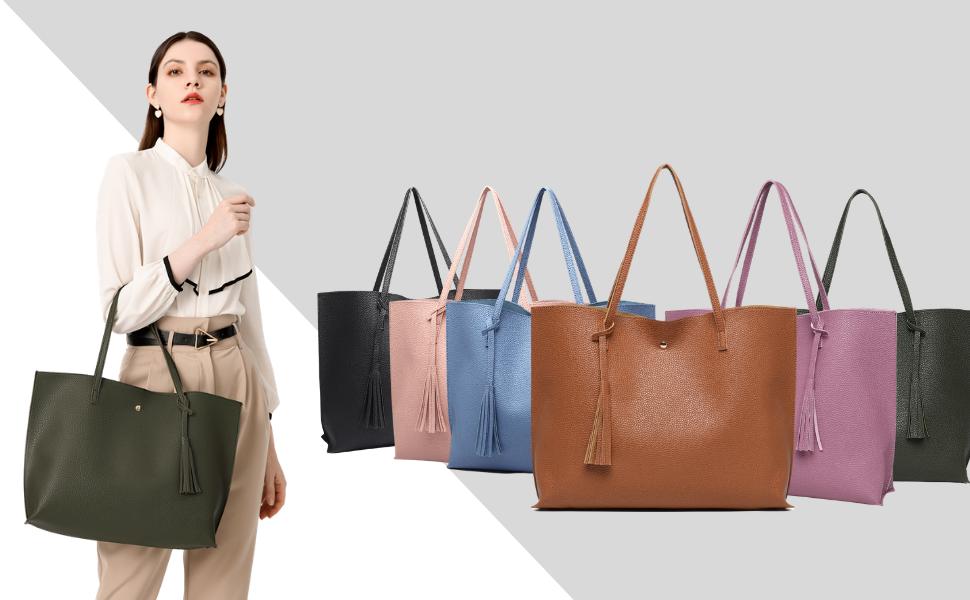 women simple shopping handbag