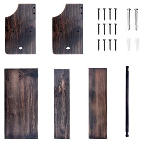 wooden wall mount storage shelf