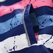 reflective stripe pockets