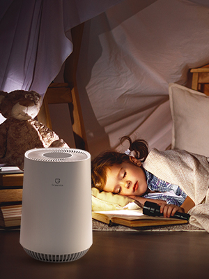 quiet air purifier for home bedroom night mode