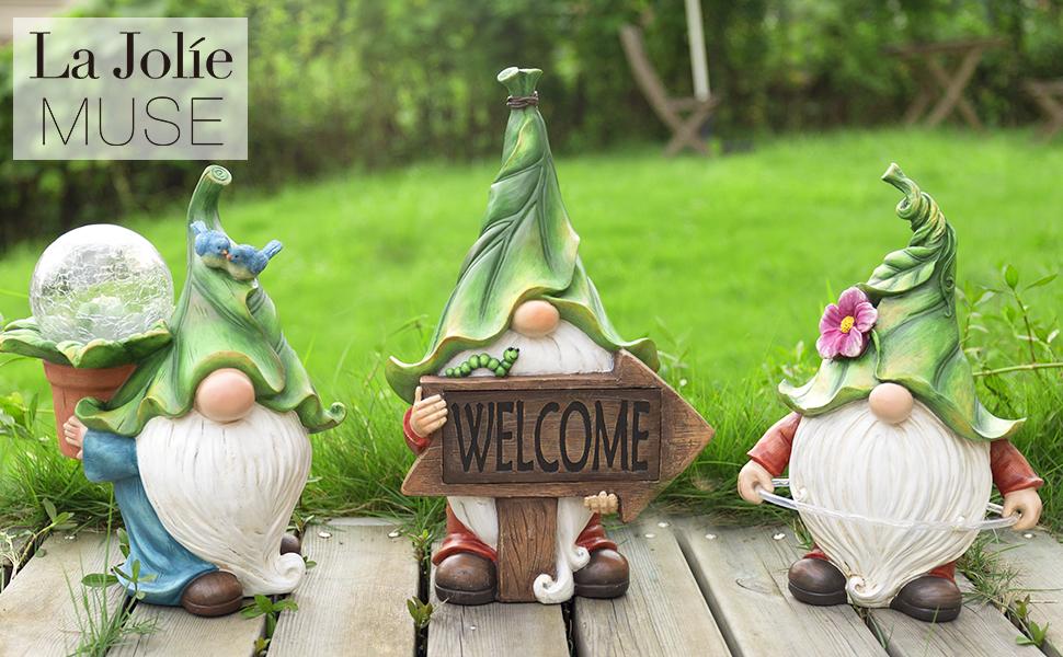 LA JOLIE MUSE gnome garden statues