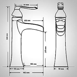 Wovier Vessel bathoom Faucet Easy Installation