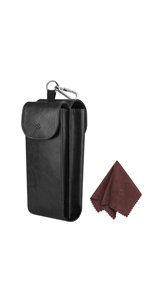 Double Glasses Case with Carabiner Hook