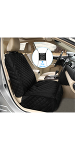 Deluxe Dog Car Front Seat Cover with Free Car Dog Barrier