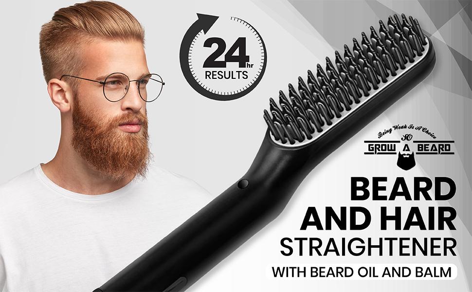 comb straightener, heated beard comb, beard straightening comb, beard straightener, beard iron