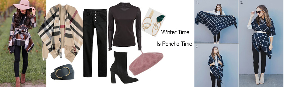 Winter time, is poncho time