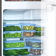 Adjustable Shelves Super-General Refrigerator-Freezer-Combination Fridge freestanding Silver