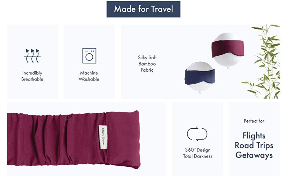 sleep mask travel soft