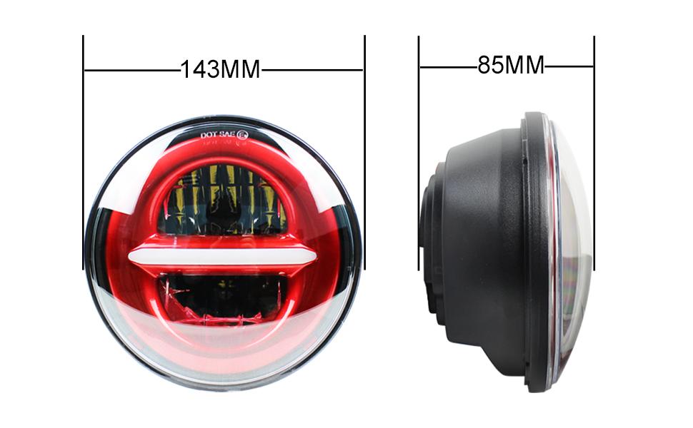 5.75 inch headlight