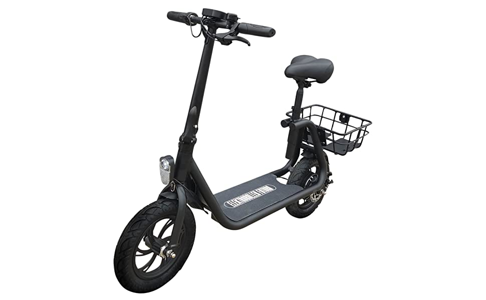 Electric scooter power seat.