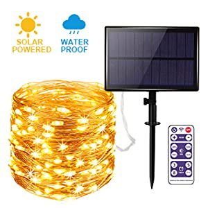 outdoor solar string lights for porch