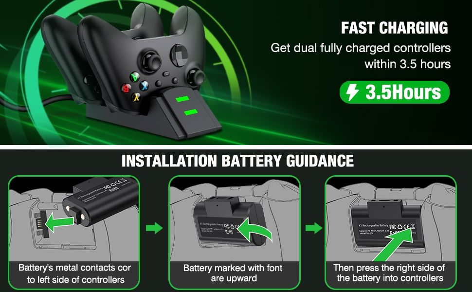 rechargeable charger controller xbox one