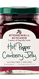 Hot Pepper Cranberry Jelly Spread Snack Appetizer