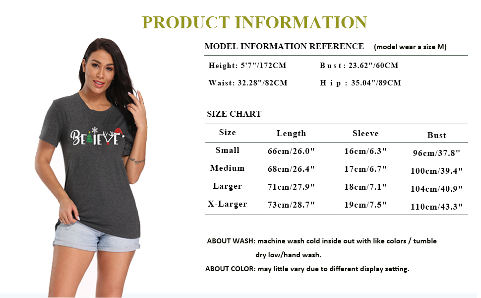 Merry Christmas Shirt for Women Funny Craphic Tees Tops Casual Short Sleeve Fall T Shirt