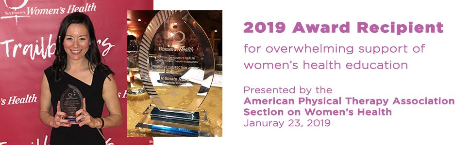 intimate rose award winner section on women's health
