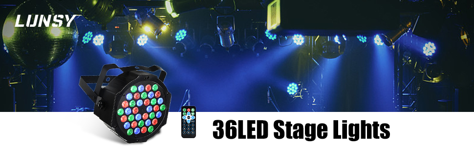 LUNSY 36LED stage lights 2Pack