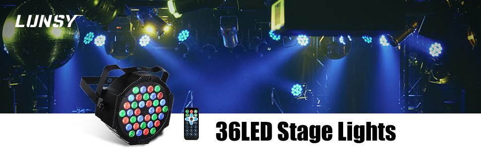 LUNSY 36LED stage lights 2Pack
