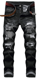Mens Jeans Ripped Jeans for Mens Jeans Slim fit Blue Jeans Mens Pants Jeans