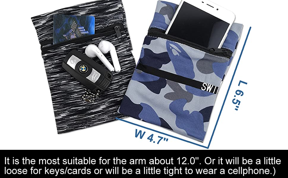 fopor Phone Armband Sleeve Wristband Pocket