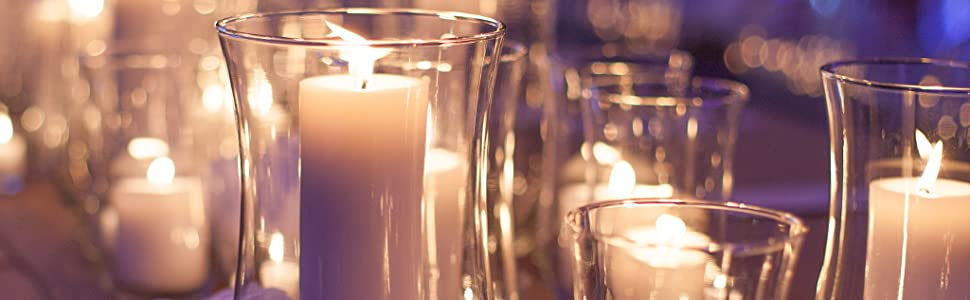 Pillar Candles in Vases