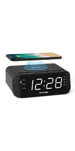 Alarm Clock Radio with Wireless Charger