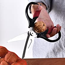 Kitchen scissors nut creacker game shears seafood siccors poltry left handed chef sizzors bone fish