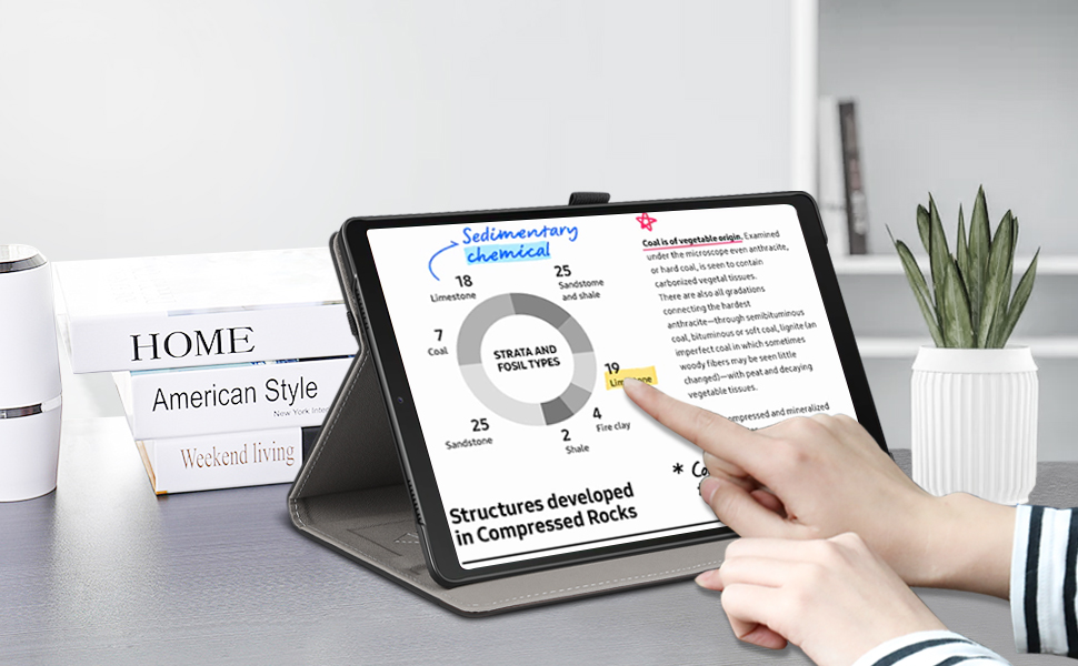 ZtotopCase Coque pour Samsung Galaxy Tab A7 10.4 2020,Housse de Protection en Cuir PU de Haute Qualit/é avec Petite Pochette et Bande /Élastique pour Samsung Galaxy Tab A7 SM-T500//T505//T507,Bleu